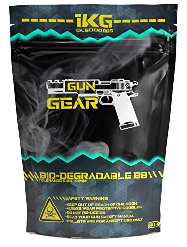 GunGear Airsoft BBS 0,20g Bio Kugeln 6mm 5000 Softair BBS 1kg Bio-degradable Softair Bullets