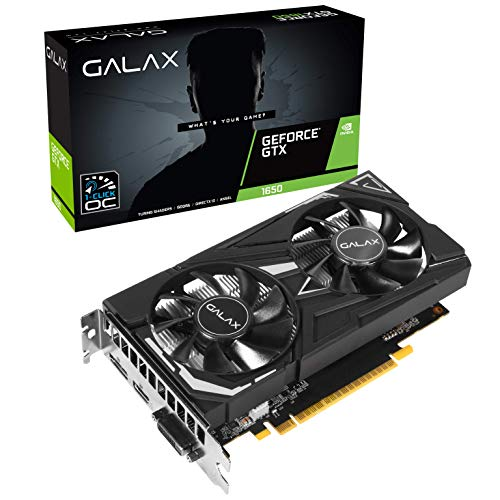 GALAX GeForce GTX 1650 EX 1-Click OC 4GB GDDR5 128-bit/DIRECTX 12 / ANSEL/PCI-E 3.0 Gaming Dual Fan Graphic Card