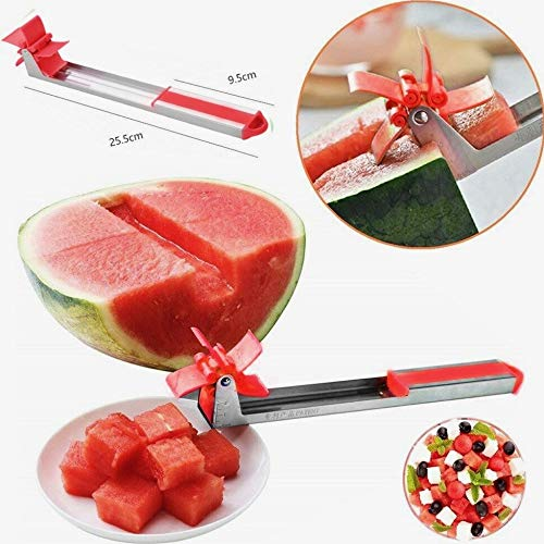 Watermelon Windmill Cutter Red Knife Fruit Cube Slicer