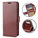 Henxunton LG W10 Cover, Slim Flip Caso in PU Pelle Premium Portafoglio Custodia Protettiva Case Cover per LG W10 Smartphone (Marrone)