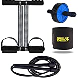 Effingo Double Spring Tummy Trimmer With Other Gym Equipment for Home Gym / Portable and Compact Abs...