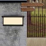 Konesky Aplique de Exterior LED, 15W Luz de Pared Impermeable Balcon Corredor de La Esquina Arriba Abajo Lámpara de Pared Jardín Camino (Doble Lado (Blanco Cálido))