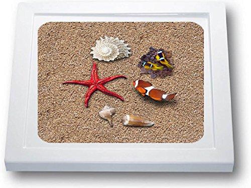 Anti Rutsch Aufkleber Dusche * Antirutschmatte Duschwanne * Strand * (41 x 41 cm, Standard)