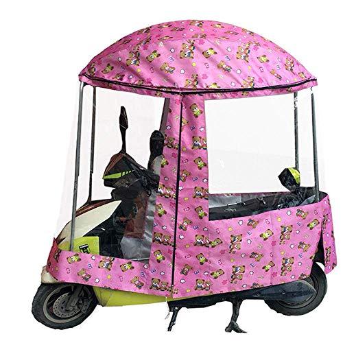 Universal Car Motor Scooter Umbrella Mobility Sun Waterproof Umbrella, Cubierta de Lluvia para Motocicleta, Totalmente Cerrado Motor Scooter Umbrella Mobility Sun Shade & Rain Cover Impermea