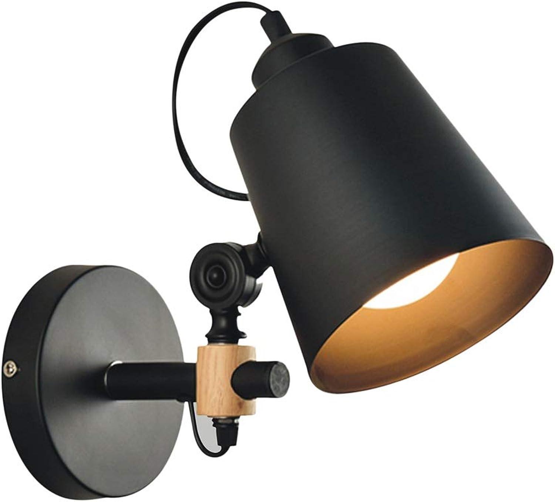 LED Wandleuchte, Nordisch Kunst Aus Eisen Gang Schlafzimmer Bett Holzkunst Wohnzimmer Hotel Wandlampe (Farbe   Warm light, Größe   5w Weiß)