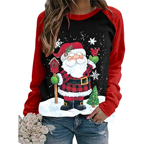 Zilosconcy Christmas Pullover Womens Sweatshirts Jumpers, Casual Xmas...