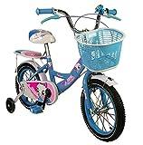 AIREL Vélo Enfant | Vélo Fille 14-16-18 Pouces | Vélo Fille 3-7 Ans| Vélo avec roulettes et Freins | Vélo à roulettes pour Enfant (Bleu-20, 20)