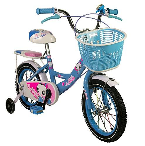 Zerimar Bicicletas Infantiles para niñas| Bici con ruedines y Cesta| Bici niña...