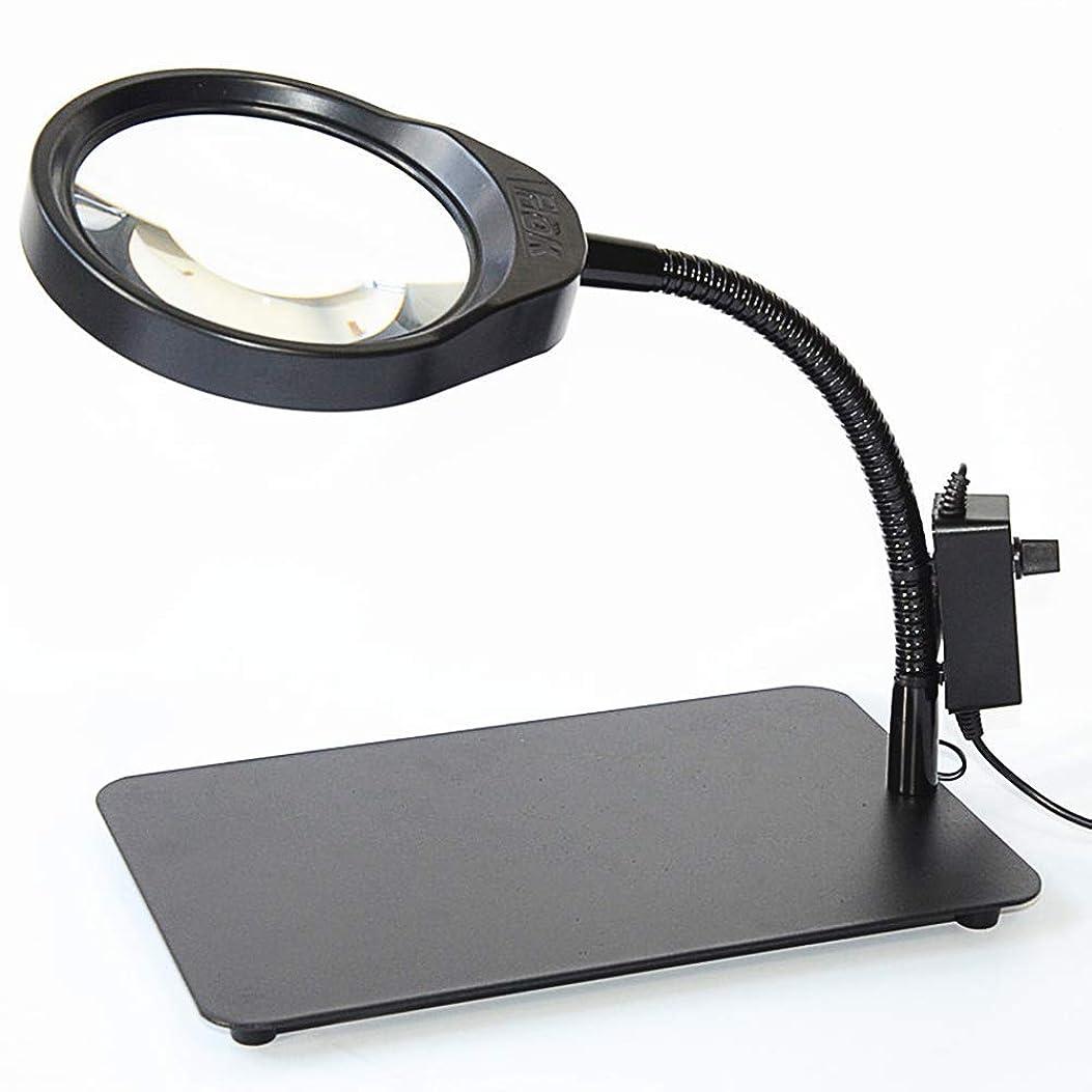 経由で高価なリーダーシップ36LED 10X虫眼鏡ランプ調光レンズ、調整可能な色温度スイベルアームユーティリティライト、デスク、テーブル、タスク、クラフト、ジュエリー、縫製、ワークベンチブラック