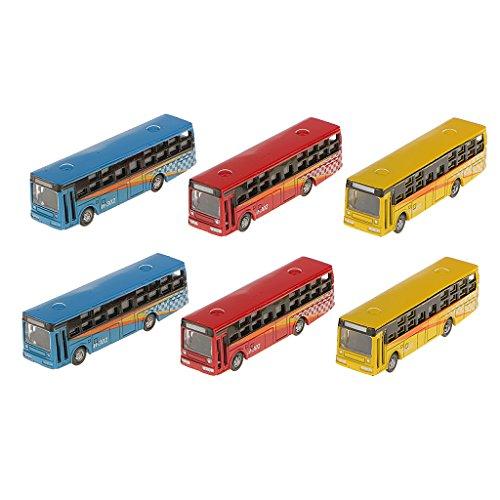 Desconocido 6pcs Paisaje Ferroviario Urbano Autobús Modelo