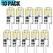 AMBOTHER 10er Pack G4 LED Lampen / 3W 300LM / 3000K Warmweiß / 48x 3014SMD LEDs / G4 LED Birne Leuchtmittel Glühbirnen/Kein Flackern/AC/DC 12V
