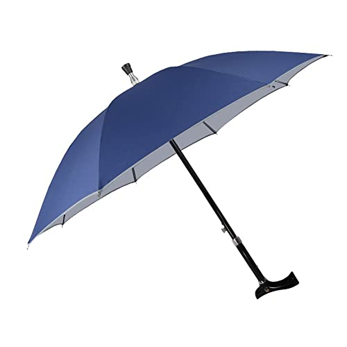 1c61aabc790b8 Saiveina 49 inch Adjustable Walking Stick Umbrella, Windproof UV Protection  Cane Umbrella
