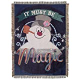Frosty the Snowman,'It's Magic' Woven Tapestry Throw Blanket, 48' x 60', Multi Color