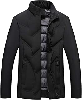 Fashion Men's Autumn Winter Casual Pocket Button Thermal Leather Jacket Top Coat