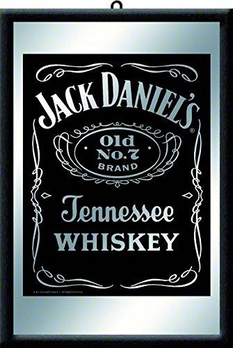 Nostalgic-Art 80702 Open Bar - Jack Daniels black, Spiegel 20x30 cm