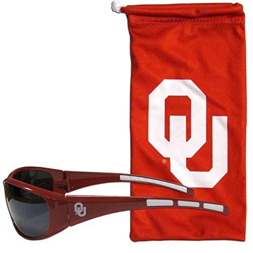 Siskiyou Sports NCAA Oklahoma Sooners Adult Sunglass and Bag Set, Red