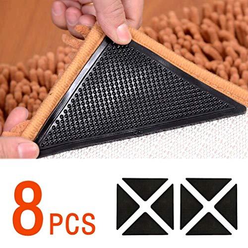 JOEYOUNG Teppich-Pads 8 Stück - Antirutschmatte Antirutschpad Teppich Stopper Antirutschmatte für Teppich Anti-Rutsch-Matte Teppichunterlage Teppichgreifer,Wiederverwendbare Pads für Fliesenböden