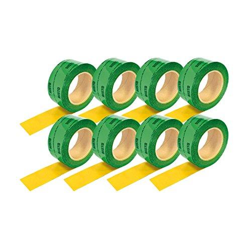 8 rotoli di nastro adesivo (60 mm x25m) verde acqua-vapore freno acqua-vapore ddeco anti blocco