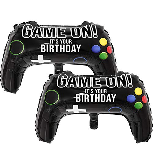 8 Packs Video Game Party Balloons, 23.6 x 15.7 Inch Game on Balloons Video Game Controller Aluminum Foil Balloon for Birthday Party and Game Party Decoration (8 Packs, Video Game Balloons)