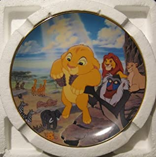 The Circle of Life Plate Number 3840 Limited Edition First Issue the Lion King
