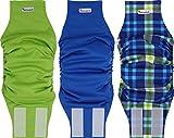 Petsweare Pañales impermeables y absorbentes para perros reutilizables, duraderos, para incontinencia de cachorros y perros machos (L, patrón azul)