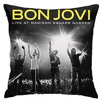 枕カバー 防ダニ Bon Jovi ボン・ジョヴィ ピローケース 睡眠クッションカバー まくらカバー 隠れジッパー 用ソファリビングルーム