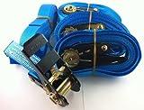 4x Ratschenspanngurt Spanngurt mit Ratsche 5 Meter EN Norm Farbe: blau