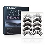 GGOKOK Dramatic Lashes 3D Faux Mink Fake Eyelashes Handmade Thick Crossed Cluster False Eyelashes 3D False Eyelashes Black Nature Fluffy Long Soft Reusable Men Makeup Eyelashes(5 Styles/5 Pairs)