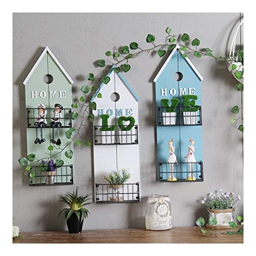 QFF Q Wall-mounted Plant Stand Metal Flower Stand Indoor Decoration Hanging Plant Stand Flower Ladder Display Rack F (Color : Three-piece suit)