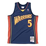 Mitchell & Ness Baron Davis #5 Golden State Warriors 2006-07 - Camiseta (talla S), diseño de Swingman de la NBA, color azul marino