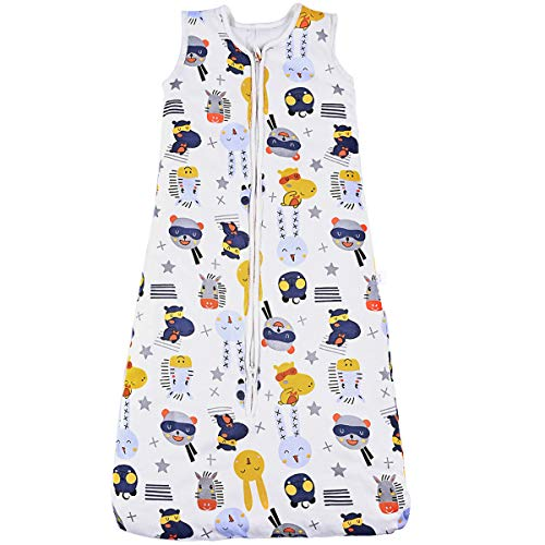 Nabance Schlafsack baby 2.5 TOG Winterschlafsack Baby 100% Baumwolle leichter Schlafsack Baby Einstellbare Länge 90-110 cm Babyschlafsack für Winter für 18-36 Monaten