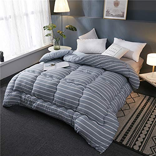ZHONGXIN Duvet, Thickened winter quilt to keep warm in winter Washed cotton spring and autumn quilt Gift quilt, Bedroom Student Quilt (E,150 * 200cm/2kg)
