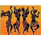 Kingkoil Full 5d Diy Diamond Painting Mujeres African Mujer Dance Silhouette Art Diamond Mosaic Cross Stitch Kit Diamond Bordery 20x30cm NoFramed