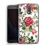 DeinDesign Coque en Silicone Compatible avec Motorola Moto G4 Plus Étui Silicone Coque Souple Fleur...