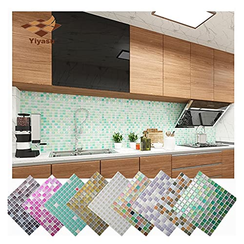 LOEMWJ Vinilos Ladrillo 5 Unids Mosaico Mosaico Baldosas Pelar Y Palo Autoadhesivo Backsplash Bricolaje Cocina Baño Home Wall Pegatina Vinil 3D (Color : YJC0019)