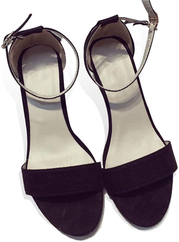 T-JULY Women's PU Thick Heel Open Toe Women's Ankle Strap Sandals