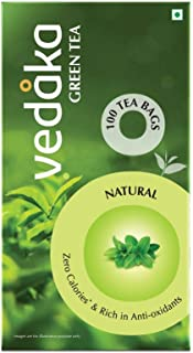 Amazon Brand – Vedaka Green Tea, Natural, 100 Bags