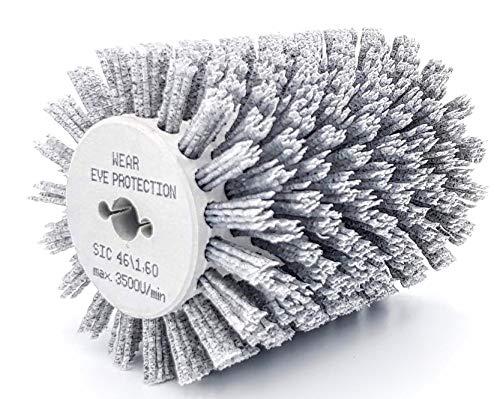 Nylonbürste K46 kompatibel mit Bürstenschleifer Makita 9741-120mm/1,4mm Korn 46
