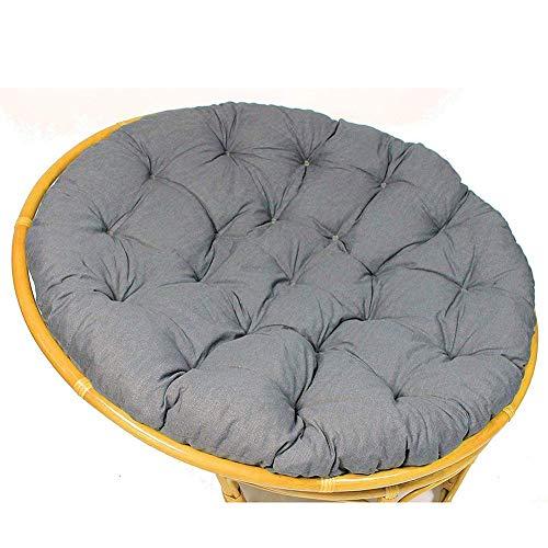 LYHY Überfülltes Stuhlkissen Schaukelstuhlkissen Verdicken Bequemes Entenmaterial aus 100% Baumwolle Passend für runden Stuhldurchmesser 100 cm (39 Zoll) Grau