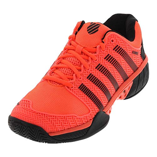 K-Swiss Men's Hypercourt Express (Neon Blaze/White/Black, 9.5 M US)