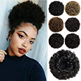 ROSEBUD Afro Puff Drawstring Ponytail Bun Extensions Synthetic Updo Hair Pieces for Black Women