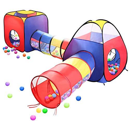 WWXXCC Juega Tiendas de campaña Hoyos de la Bola, 4 en 1 Pop Up niño de los niños de la Bola del hoyo Casa con 2 Tiendas de campaña y 2 del túnel para los niños, niños, niñas y niños