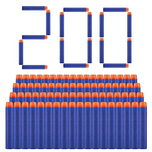 ZWOOS Dardi Proiettili per Pistola Nerf 200 PCS Nerf N Strike Elite Blaster Ricambio Munizioni Ricarica Compatibili Dardi Freccette per Nerf N-Strike Elite Series Blasters Giocattolo per Bambini