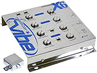 Upgraded 3-Way Electronic Audio Crossover - Network Hi-Pass and Low-Pass Channel 12dB Octave Slope Power LED Indicator w/Remote Subwoofer Control and Parallel Input Switch - Lanzar Vibe VIBEX6