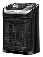 rowenta so9265f0 mini excel eco safe termoventilatore ceramico, 1000/1800 w, 49 decibel, plastica, per ambienti di 15-20m², nero