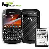 Mugen Power - BlackBerry Bold Touch 9900/9930/9850 / Torch 9860/9790 / Curve 9380 3600mAh Batería extendida con cubierta de color negro 'Over 2X Longer Runtime' [Ahora ofrece garantía de 24 meses]