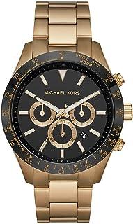 Michael Kors Layton Men's Black Dial Stainless Steel Analog Watch - MK8783