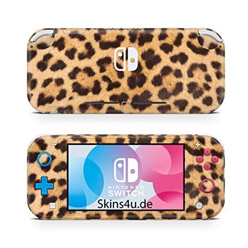 Skins4u Premium Slim Skin Design Aufkleber Schutzfolie Skins für Nintendo Switch Lite Vorder & Rückseite Leopardenfell