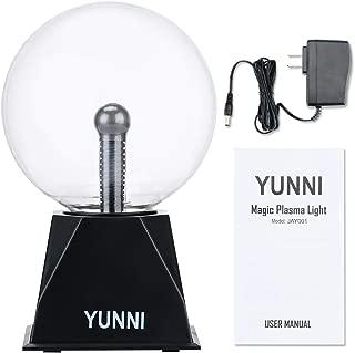Plasma Lamp,Bigger Plasma Ball(6 Inch),Dancing Plasma Globe with Music, Lightning Ball Touch & Sound Sensitive, Clear Glass Magic Ball Lamp Nebula Sphere Globe