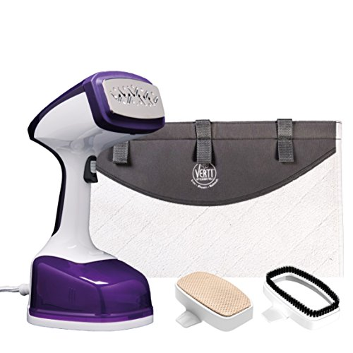 Drew&Cole Vertisteam Pro 1600W Clothes Steamer - Handheld Travel Iron For Steaming Garments Fast Heat-up With Automatic Shut Off Includes Portable Press Pad For Vertical Ironing - 200ML Water Tank